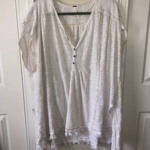 White Free People Top Size Large